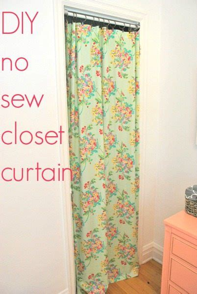 Project nursery a no sew closet curtain the sweetest digs