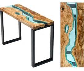 wood table with glass rivers and lakes4 fubiz media