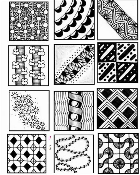 for doodle template simple zentangle patterns images gotta do