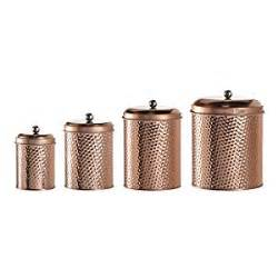 Copper Kitchen Canisters Global Amici Mauritius Metal Hammered