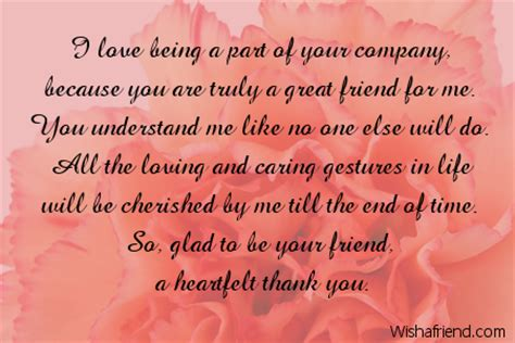 thank you letter to a friend for being there thank you notes for friends