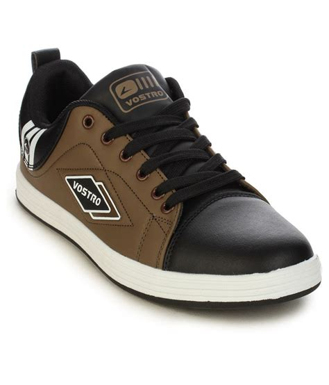 Casual Sneakers Synthetic Brown B203 vostro brown synthetic leather sneaker s casual shoes