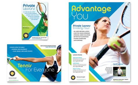 advertising templates free tennis club c flyer ad template design