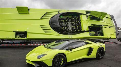 Lamborghini Boat Price This Green Lamborghini Aventador Comes With A Matching