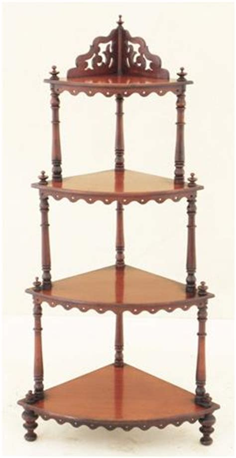 What Not Shelf by Antique 19th Century Mahogany Whatnot Shelves