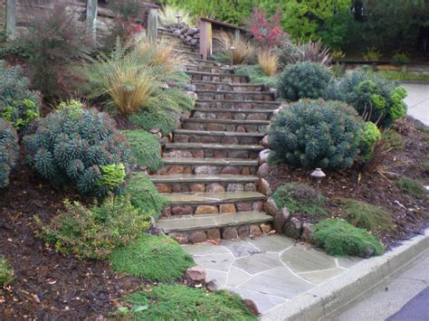 backyard hillside landscaping ideas hillside landscaping ideas on a budget great photo
