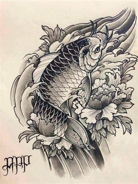 tattoo flash koi fish 1093 best kois images on pinterest irezumi japan tattoo