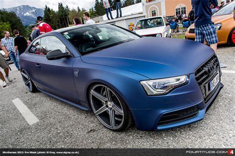 Audi A5 Durable Premium Car Cover Army Grey matte car vinyl wrap colours and exles monsterwraps hshire