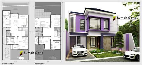 layout rumah sehat denah dan tak rumah sehat dan apik 2 lantai dibuat