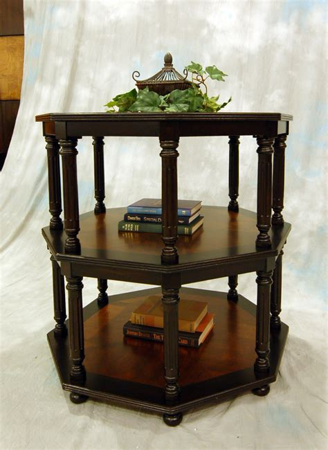 mahogany and more accent tables tier entry foyer accent