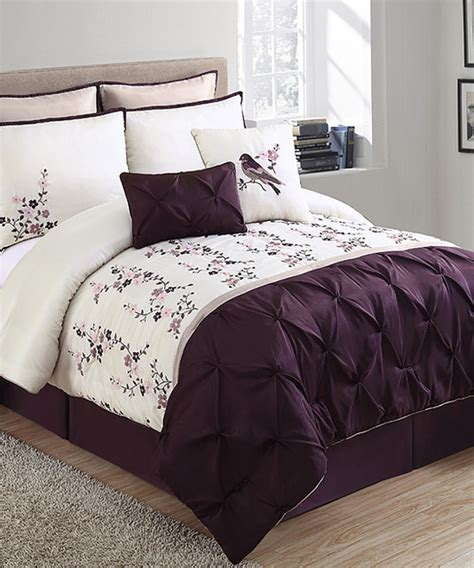 plum bedding plum ivory lydia comforter set modern comforters and