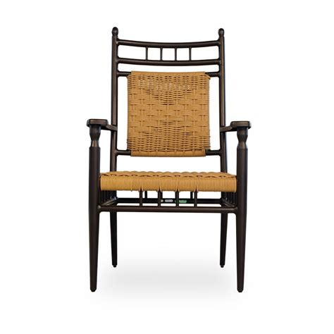 2014 New Vinyl Woven Dining by Lloyd Flanders Low Country Woven Vinyl Wicker Dining Arm