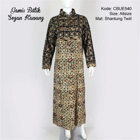 Gamis Batik Sogan gamis batik motif sogan kawung winih gamis batik murah