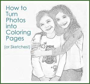 how to turn photos into coloring pages or sketches our