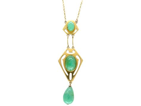 murrle 15ct gold jade necklace the antique