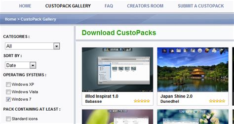custopack themes gallery customize windows appearance with custopack tools