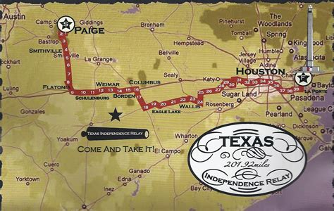 independence texas map half texas independence relay 2012 part 1