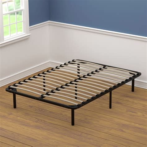 wood full size bed frame handy living full size wood slat bed frame free shipping