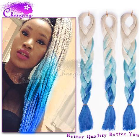 ombre kanekalon braiding hair 10pcs ombre kanekalon braiding hair blonde blue kanekalon