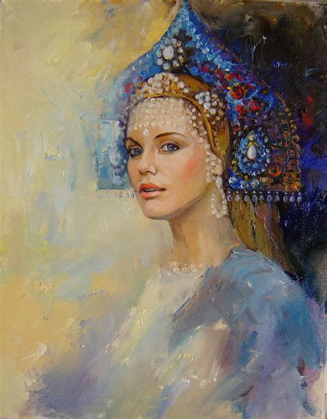 painting of princess russian princess painting by nelya shenklyarska