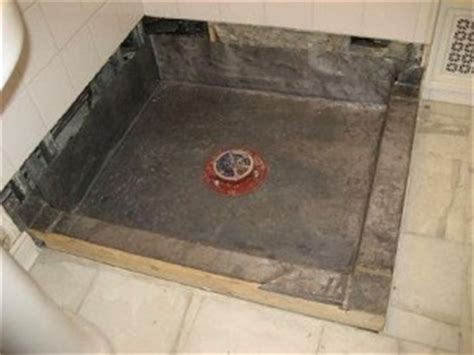 What Type Of Mortar For Shower Pan by How To Build A Shower Pan Media
