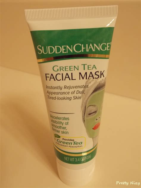 sudden change green tea mask review pretty nizy