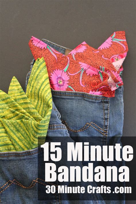 15 minute crafts for diy bandana scout craft 30 minute crafts