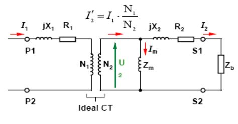 transformer impedance and circuit current current transformer equivalent circuit