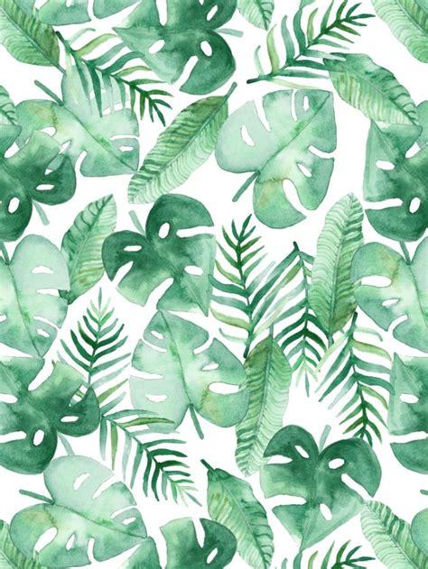 wallpaper tropical green tropical leaves leaf green print pinterest