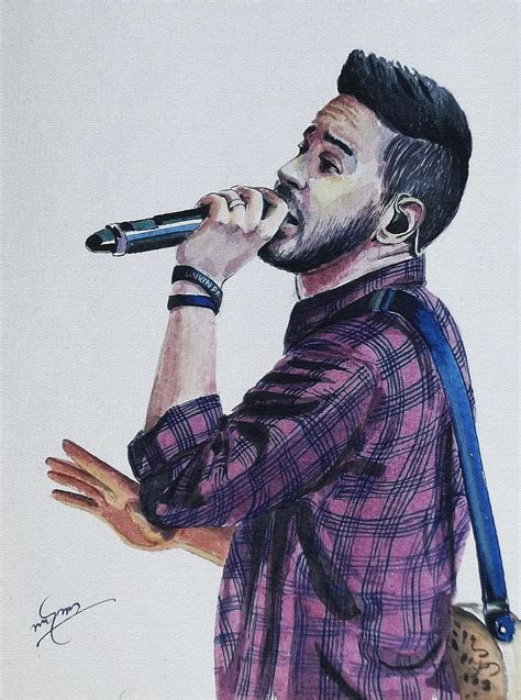 Metal House Plans mike shinoda painting by linkin art