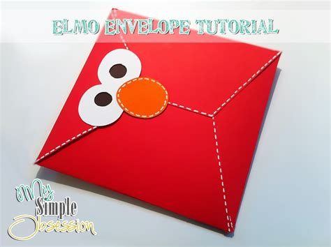 elmo template my simple obsession elmo envelope tutorial
