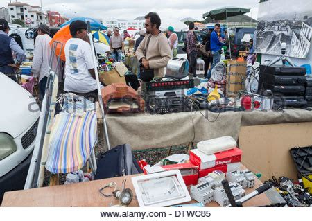 stalls at the weekly car boot sale at guargacho in