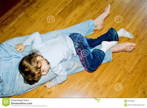 sleeping on hardwood floor sleeping stock image image 10103651