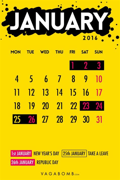 I Need To See A Calendar The 2016 Weekend Calendar You Need To See