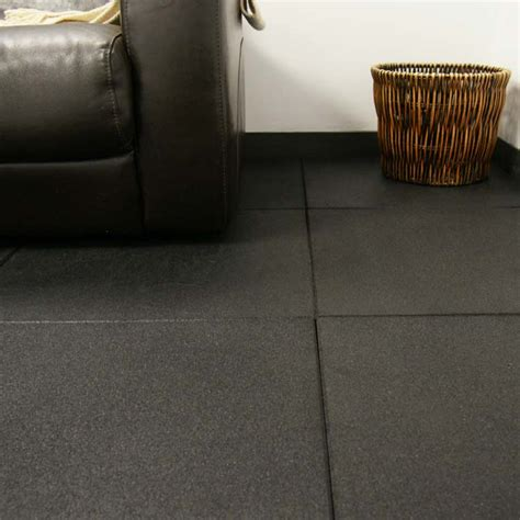 """Eco Sport 3/4 inch"" Interlocking Rubber Flooring Tiles"