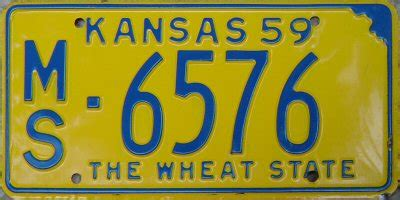 Kansas The 34th State by Rick Kretschmer S License Plate Archives 1959 U S