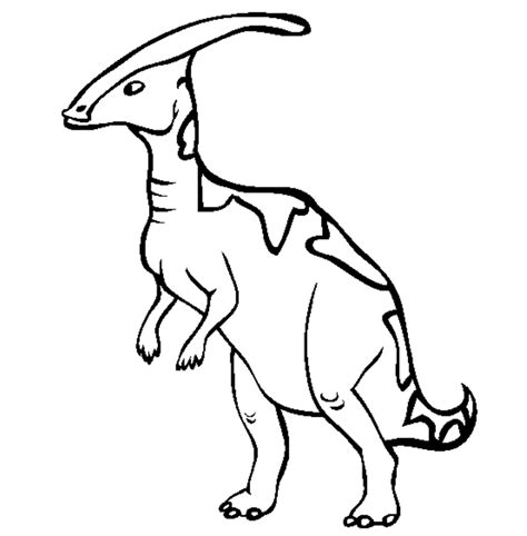 free coloring pages of parasaurolophus