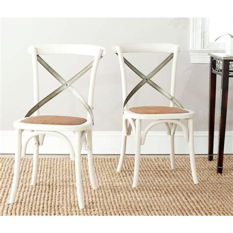 x back side chair safavieh eleanor ivory x back side chair set of 2