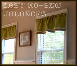 how to sew valances no sew valances
