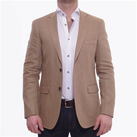 gant solid linen blazer khaki mr mrs stitch