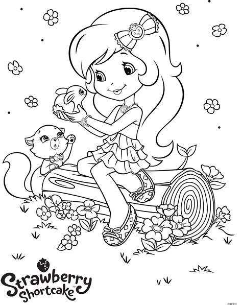 coloring book pages strawberry shortcake free coloring pages of strawberry
