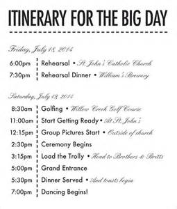 wedding weekend itinerary template 26 wedding itinerary templates free sle exle
