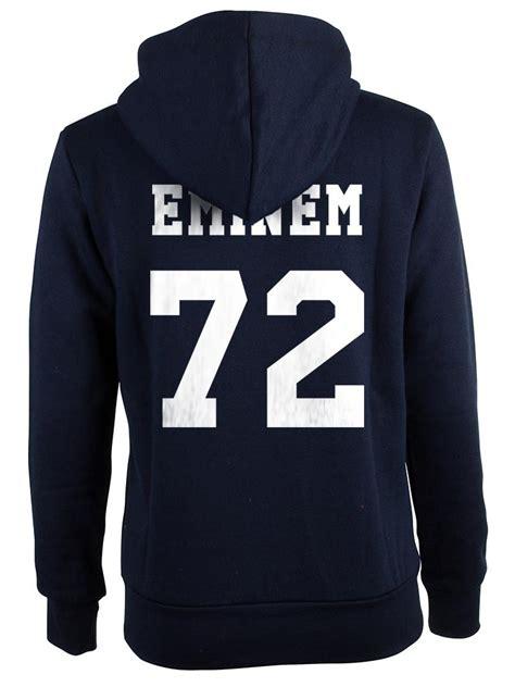 Hoodie Sweater Eminem Keren eminem 72 back only unisex hoodie s 3xl navy sweatshirts hoodies