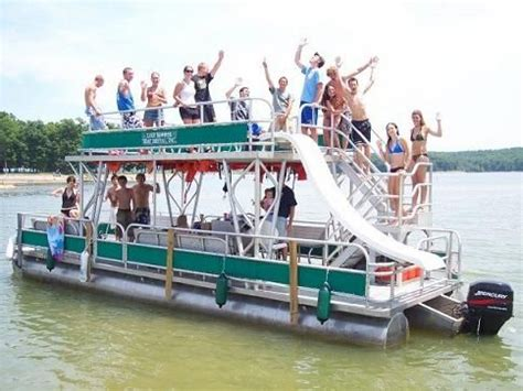 party themes on a boat on the pontoon double decker party boat and trust me the