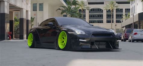 nissan gtr black edition body liberty walk bagged nissan gt r black edition will steal