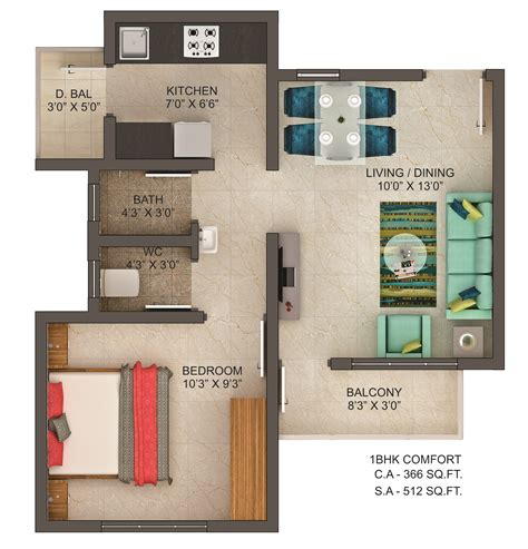 1 house plans floor plan of 1bhk flats in chakan dwarka township