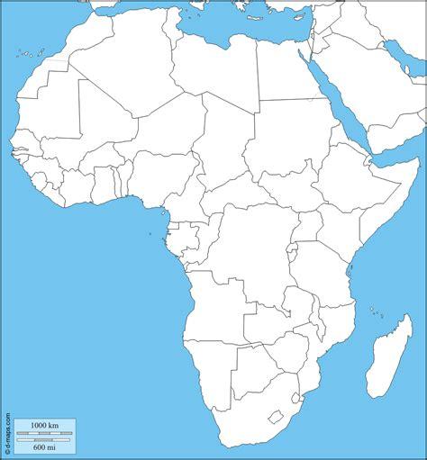 d maps africa cartina muta dell africa da completare