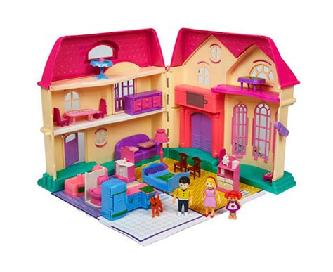 playing doll house my happy family doll house play set