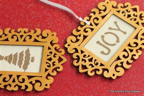 diy picture frame ornaments diy gold frame ornament the country chic cottage