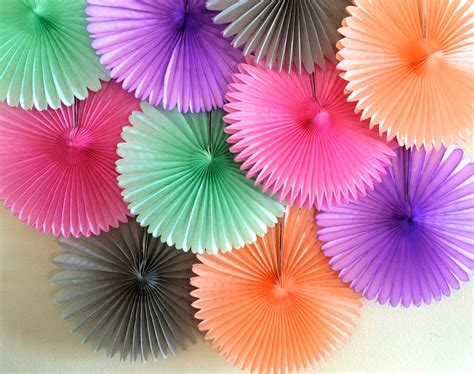 How To Make Tissue Paper Fans - tissue paper fan wedding decorations birthday by